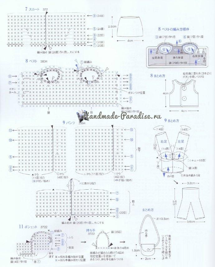 Амигуруми. Схемы вязания лесных зверюшек (7)