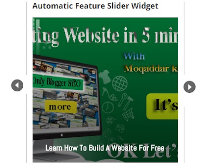 Automatic Feature Post Slider For Blogger
