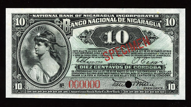 Nicaragua Fractional currency 10 Centavos