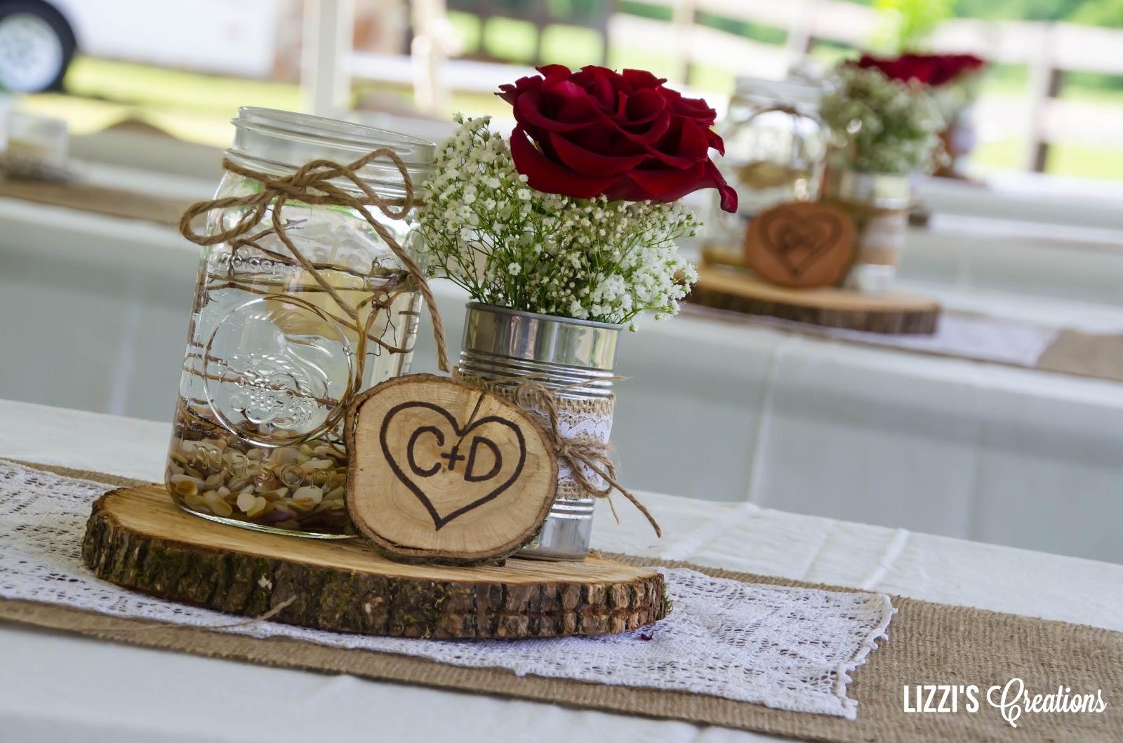Wedding Ideas Using Mason Jars: Lizzi's Creations: Project Wedding: The Decor