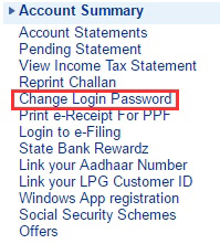 change password pe click kare