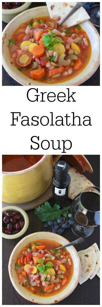 Greek Fasolatha Soup