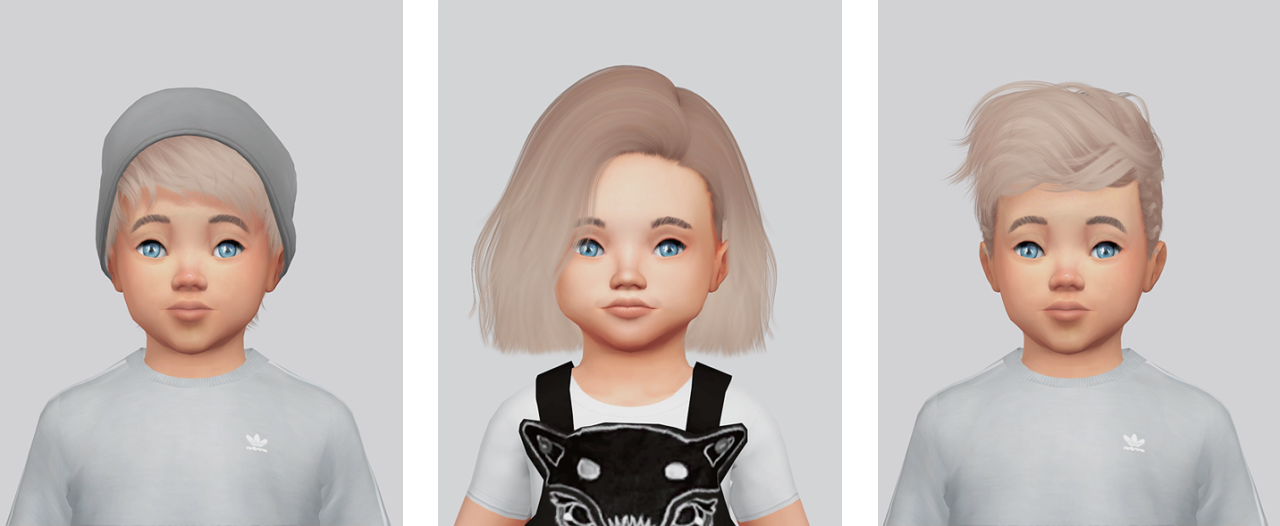 My Sims 4 Blog Hair Retexture Pack For Toddlers By Kalewa
