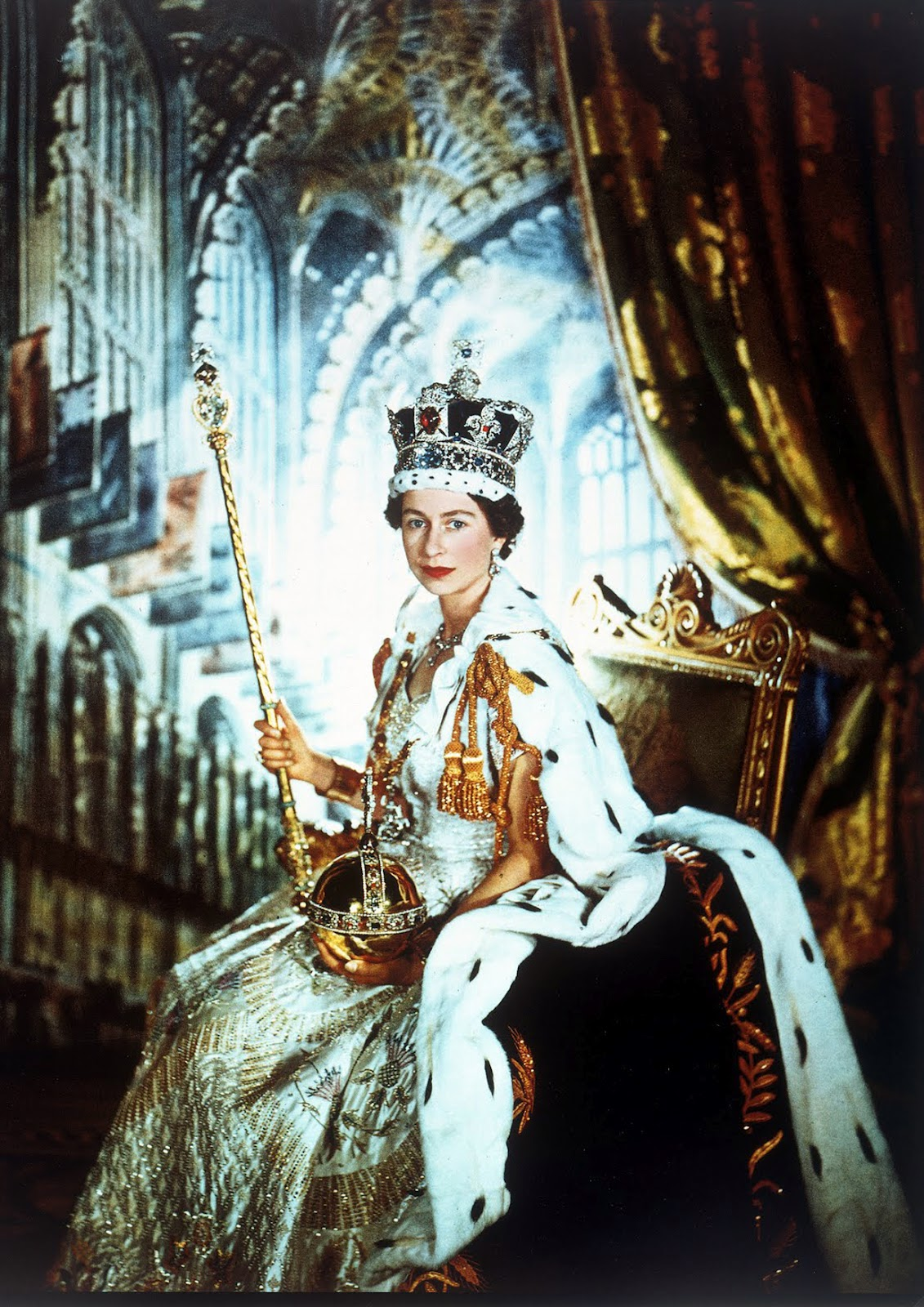 1911 Queen Mary coronation portrait by Sir William