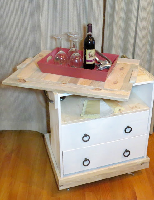 2015 D&LP Bar Cart made from One board Challenge top and Rast Ikea Dresser Pittsburgh Paints and Stains Trim Door and Furniture Antique White Paint Hickory Hardware Menards Pier1 Wine Rack