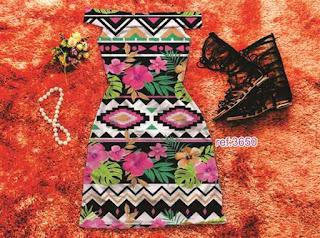 Vestido Moda Blogueira Atacado tribal
