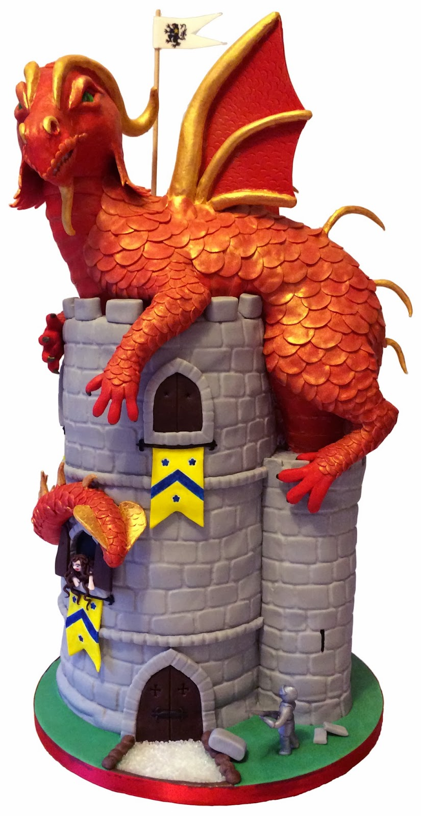 Elaine S Sweet Life Dragon Atop A Castle A Medieval Cake