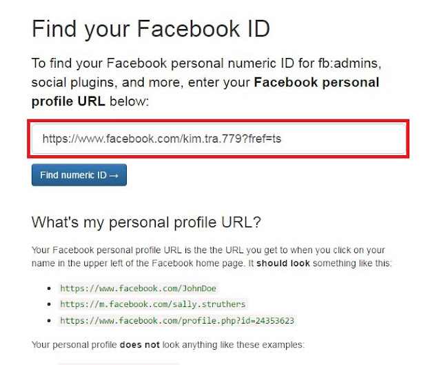 How To Find Your Facebook ID step 3
