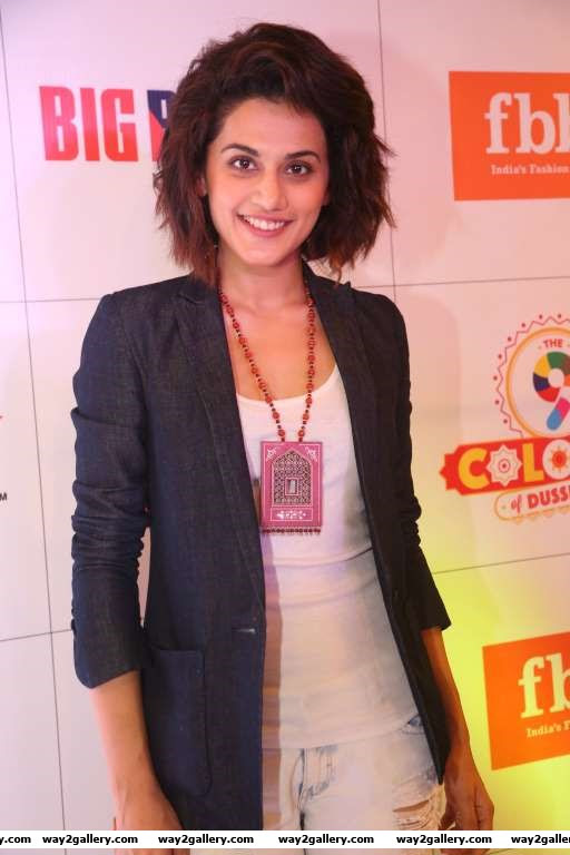 South Indian actress Taapsee Pannu snapped at Big Bazaar Fashion Show