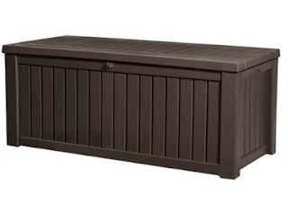 Keter Rockwood Plastic Deck Storage Container Box 150 Gal