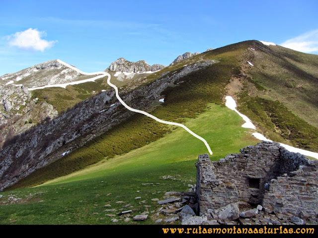 Ruta al Campigüeños y Carasca: Desde la Collada Campigüeños, tramo al pico Campigüeños
