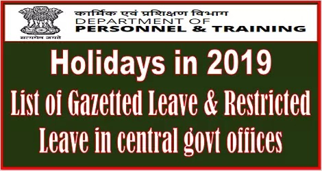 list-of-holidays-in-2019-dopt-order