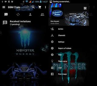 BBM MOD Monster Energy Blue