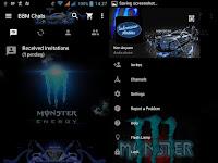 BBM MOD Monster Energy Blue versi terbaru 3.3.6.51 Apk dan Versi Lama