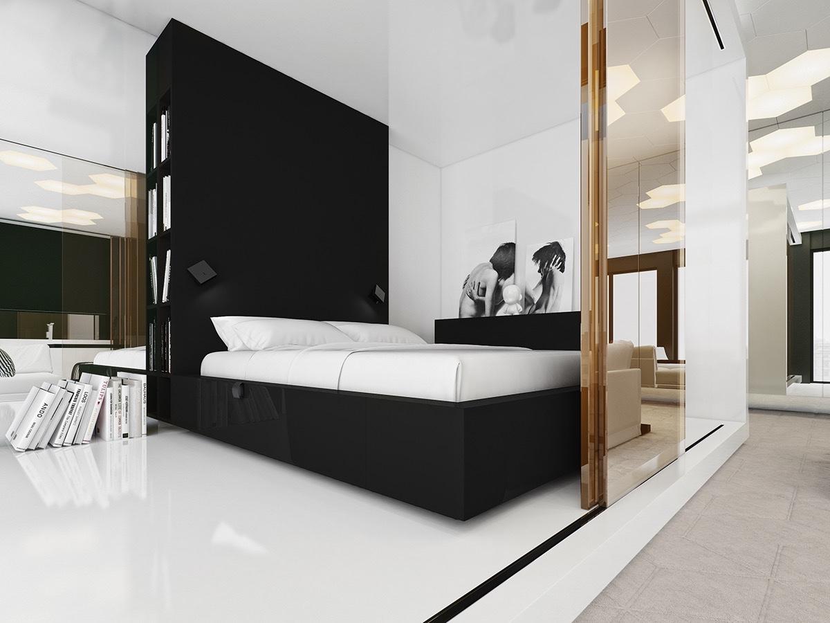 59 Desain Kamar Tidur Nuansa Hitam Putih