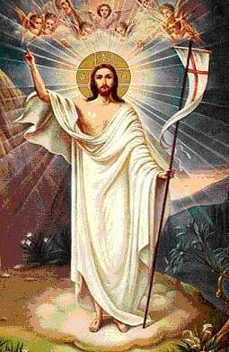 Imagen de la Resurrección de Jesús a color para niños