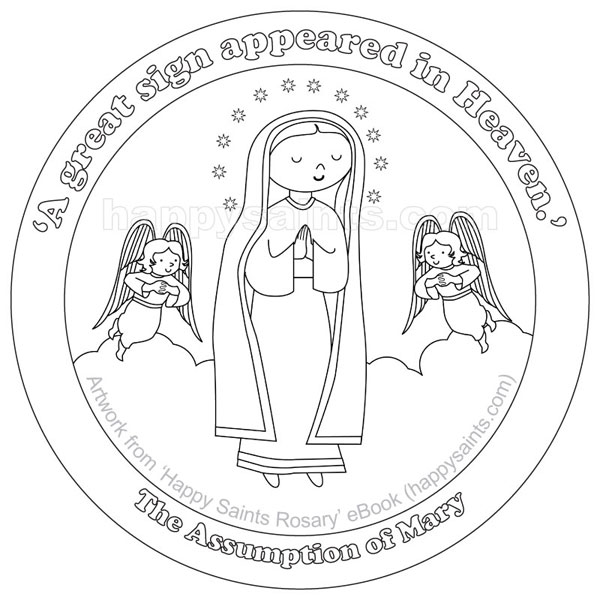 assumption of mary coloring pages - photo#10