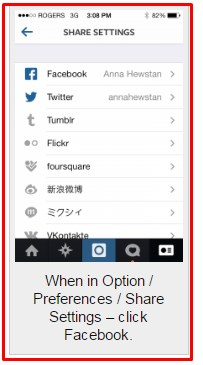 how to link instagram to facebook business page iphone