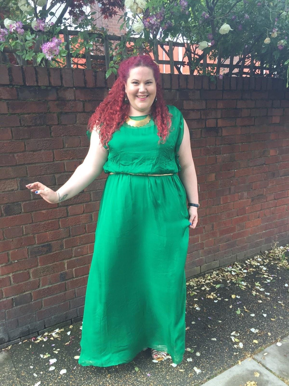Emerald Goddess Realness: Studio 8 Silk Neptune Maxi Dress | Curves ...