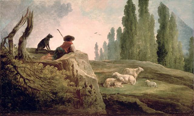 Hubert Robert : Un berger, musée des Beaux-arts Pouchkine, Moscou