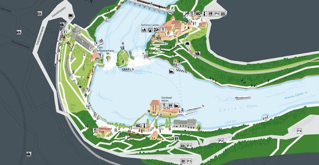 Suiza, Mapa Cataratas del Rin