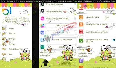 BBM Mod Keroppi Whatsapp 2.13.1.14 Apk