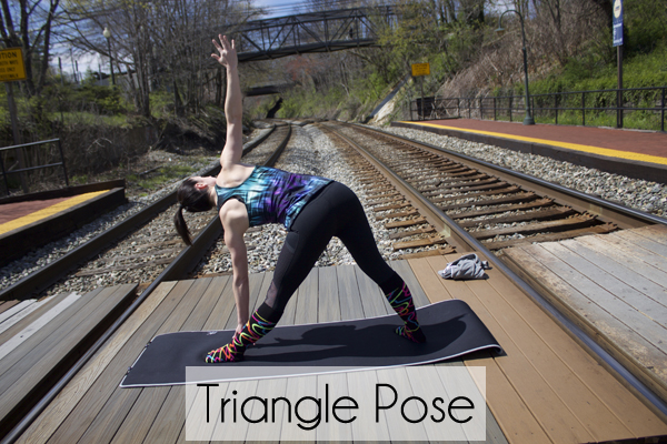 Yoga, Tree Pose, namaste, 5 Basic Yoga Poses for Beginners, Triangle Pose, Chrissy's Knee Socks, Fabletics