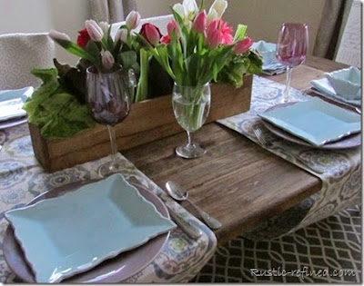 Spring tablescape for bunny's