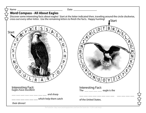 Eagle Word Compass - free download puzzle