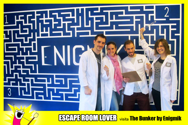 "Opinión sobre escape room: Enigmik ""The bunker"" - Barcelona"