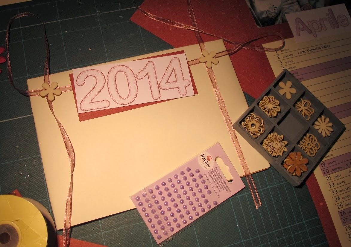 Calendario fai da te con cartoncino