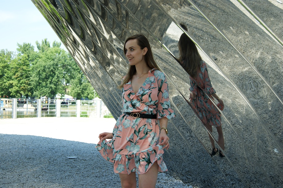 kopertowa letnia sukienka