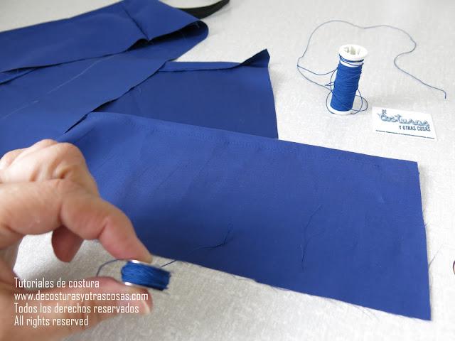 como coser con hilo elástico