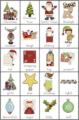 Bingo, ahorcado y 6 juegos más sobre vocabulario navideño