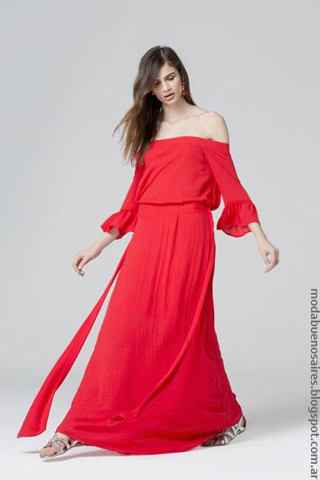 Vestidos largos de moda mujer 2017 primavera verano 2017 ropa de moda.