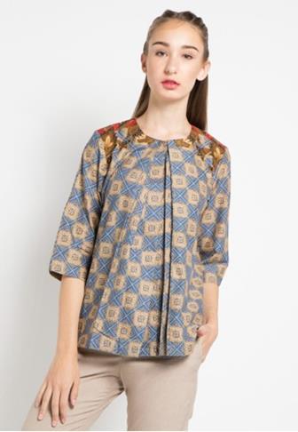 Aneka Macam Model Blouse Batik
