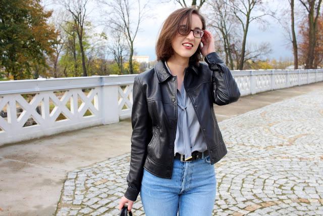 skórzana kurtka Zara street style