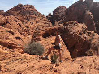 Nicole Rovig Hiking in the Valley of Fire