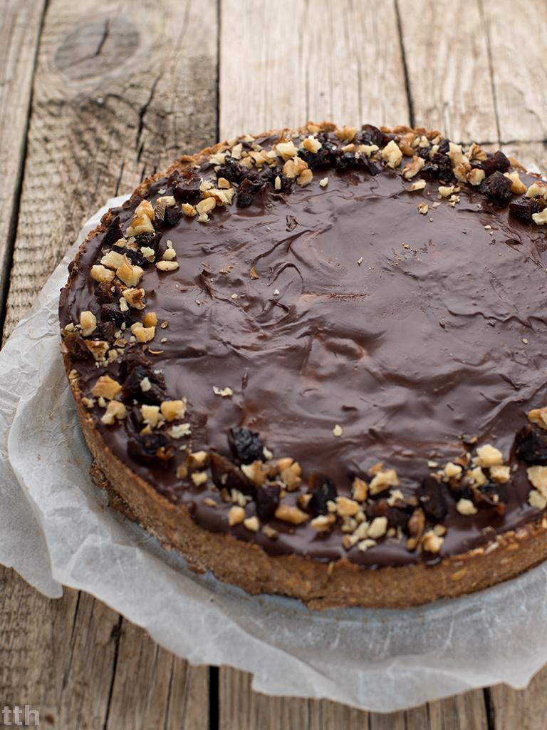 wegańskie ciasto czekolada śliwka bezglutenowe roślinny blog