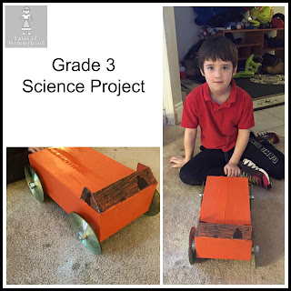 grade 3 science project, muscular force, car, build a toy