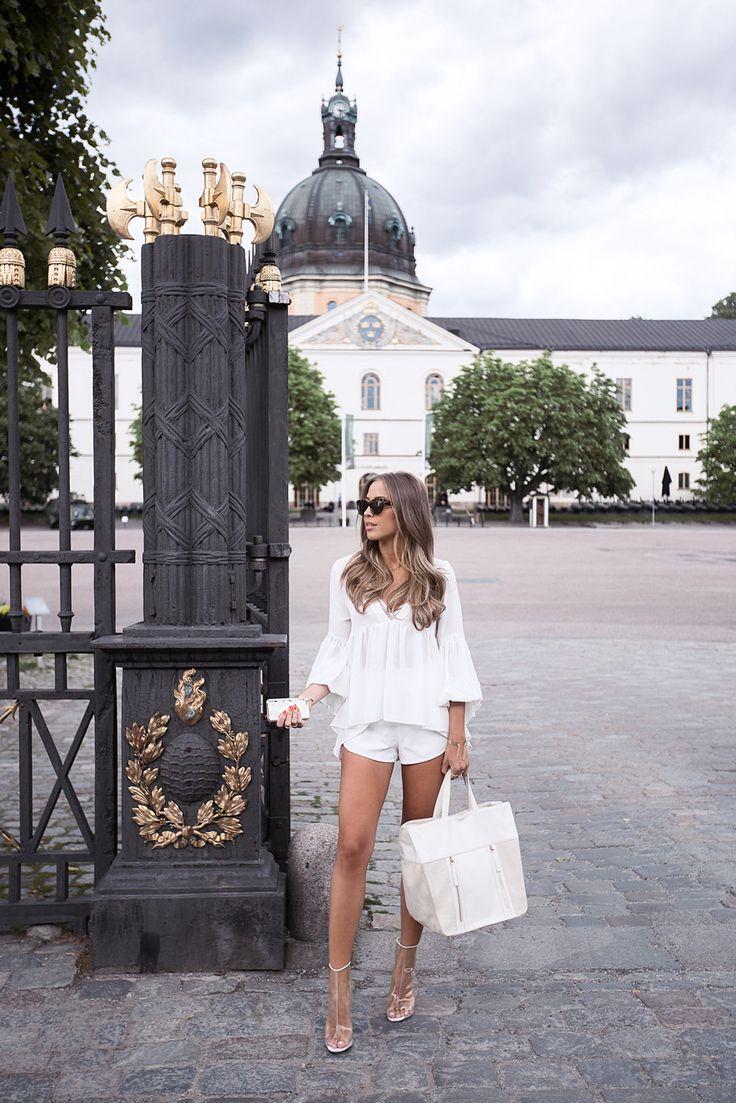 Kenza Zouiten All White Summer Style