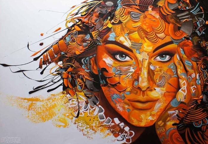 Сгусток энергии из цвета и линий. Esther Barend