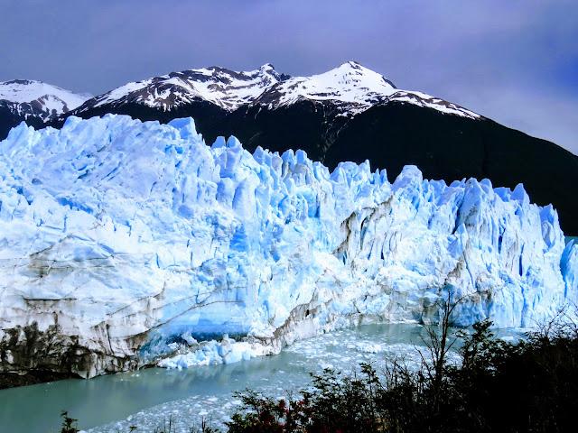 El Calafate Glacier: The blue ice of Perito Moreno Glacier near El Calafate Argentina