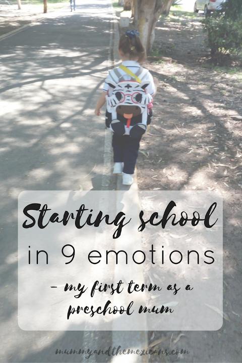 Starting school in 9 emotions - my first term as a preschool mum