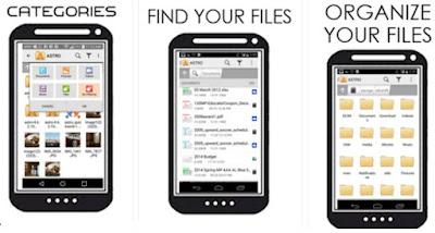 cara menyembunyikan file di android menggunakan astro file manager