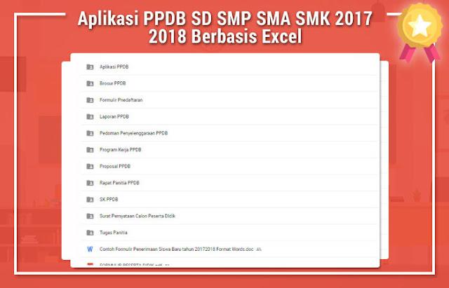 Aplikasi PPDB SD SMP SMA SMK 2017 2018 Berbasis Excel