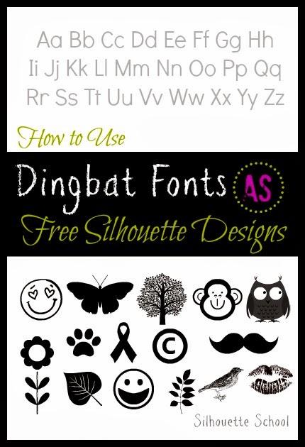 Dingbat font, Silhouette, free, designs