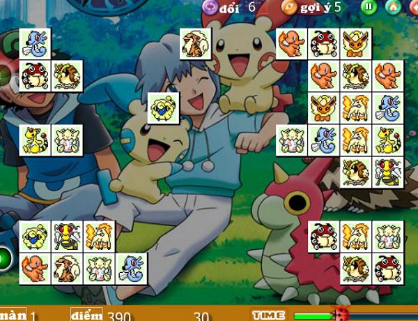 Game Pikachu Kawai 2003, 2004, 2005 - Xếp thú Pokemon e
