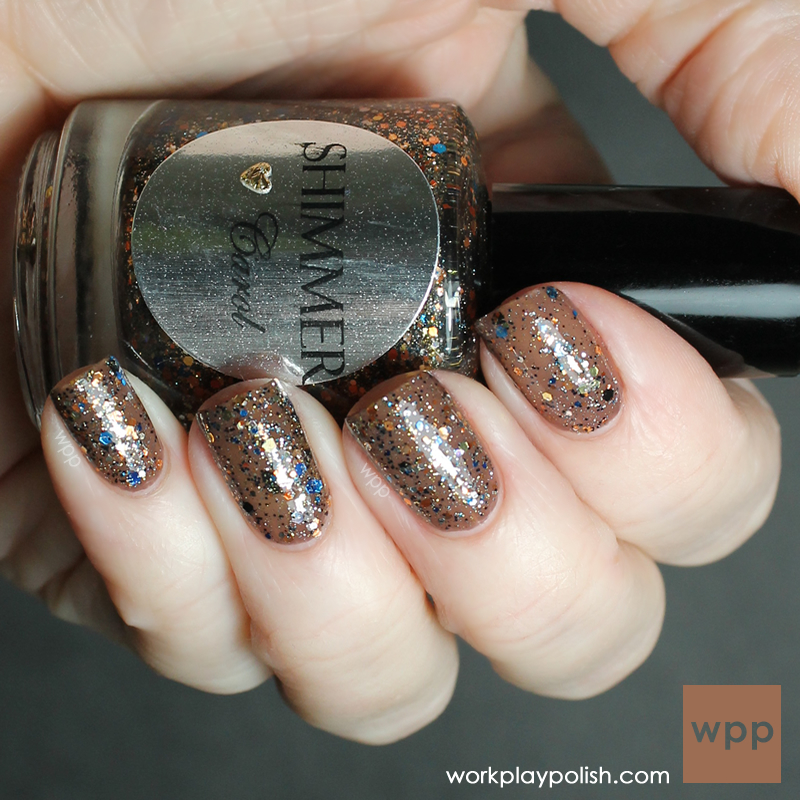 Shimmer Polish Carol over OPI You Don't Know Jacques (work / play / polish)