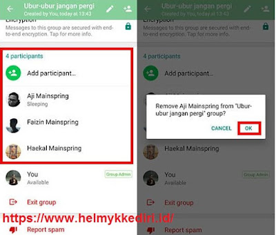 Cara menghapus group whatsapp v